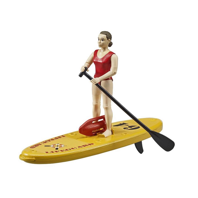 Figurine Bworld : Maître-nageur avec Stand up Paddle