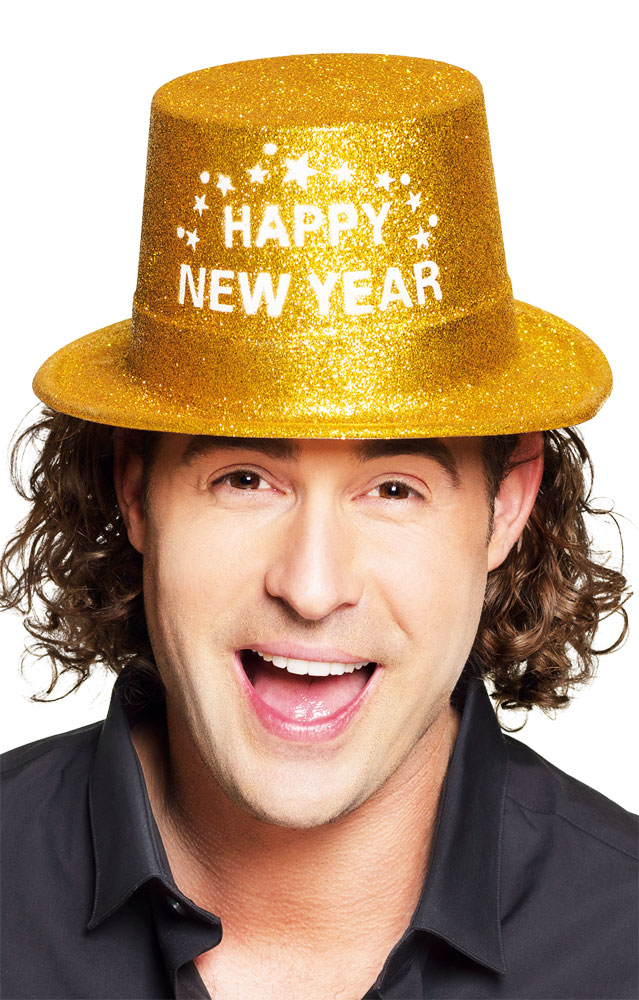 Chapeau - Happy New Year - Doré