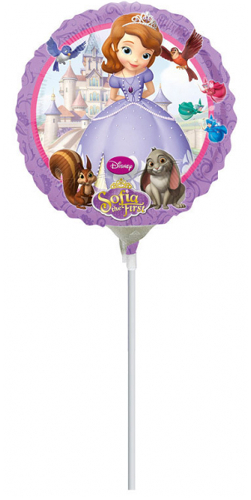 Ballon Mylar 23 cm - Princesse Sofia?