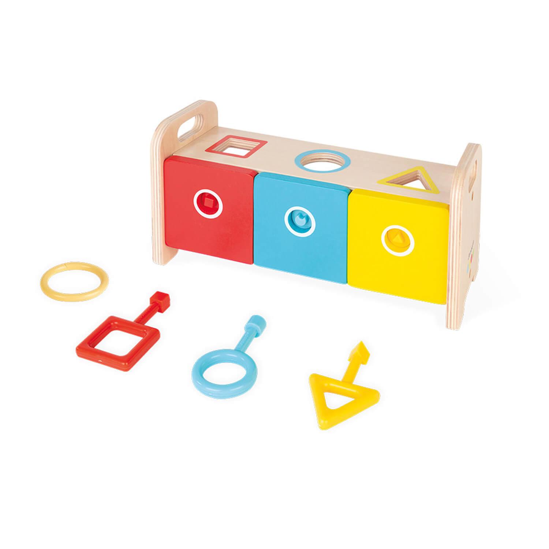 Boîte à formes : La Boîte à clefs en bois