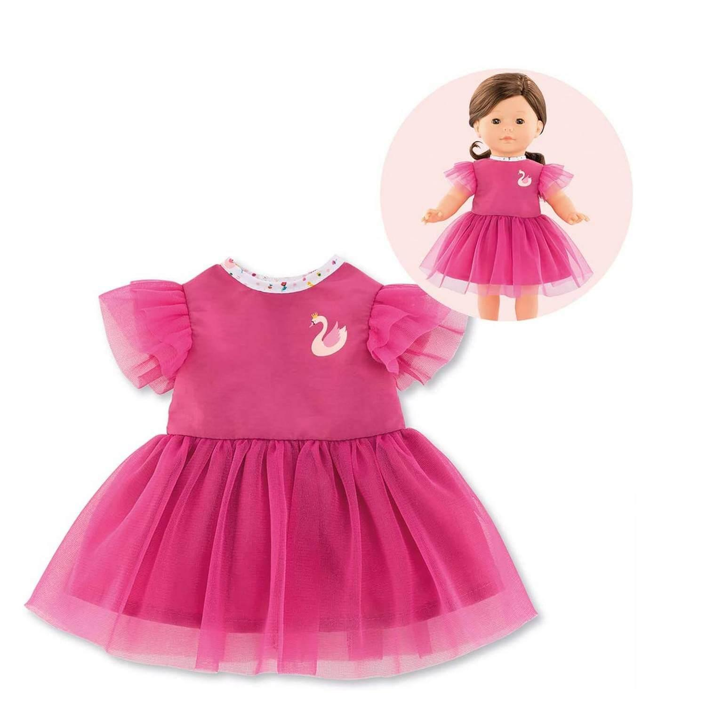 Vêtements pour poupée ma Corolle 36 cm : Robe Cygnes De Tendresse Rose