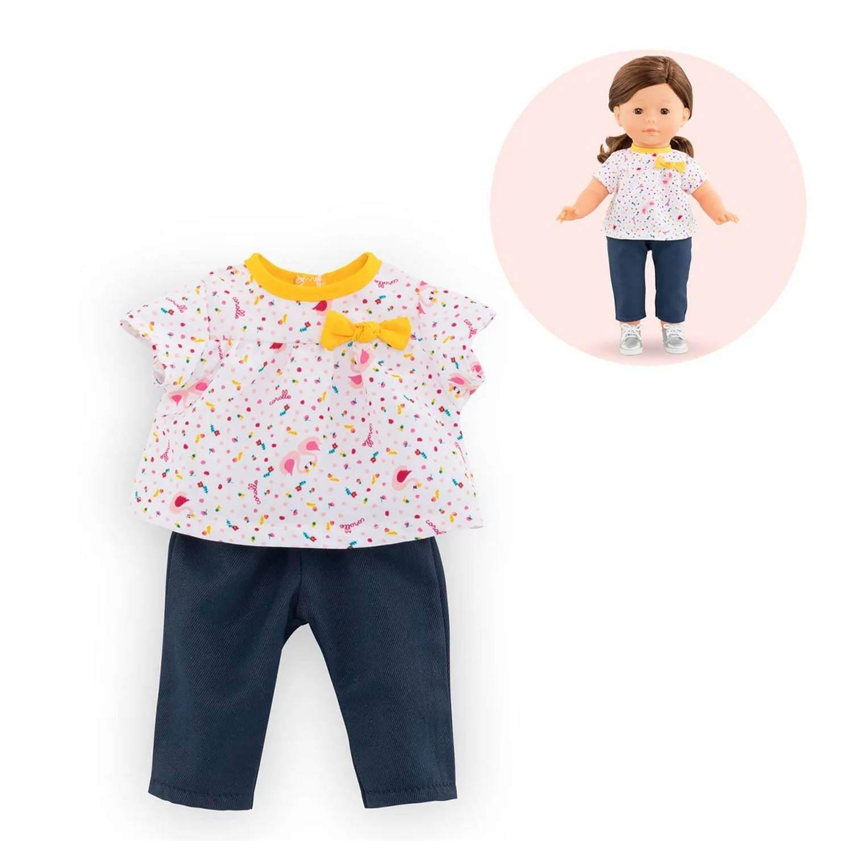 Vêtements pour poupée ma Corolle 36 cm : Blouse & Pantalon Cygnes De Tendresse