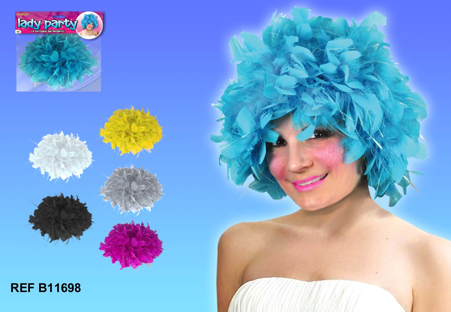 Perruque Lady Plumes
