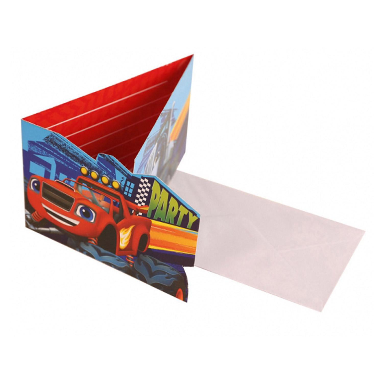 Cartons D'invitation : Blaze Et Les Monster Machines x8