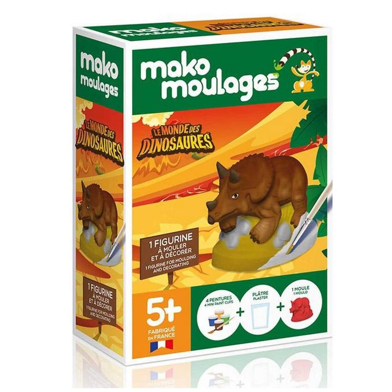 Moulage en plâtre : Tricératops
