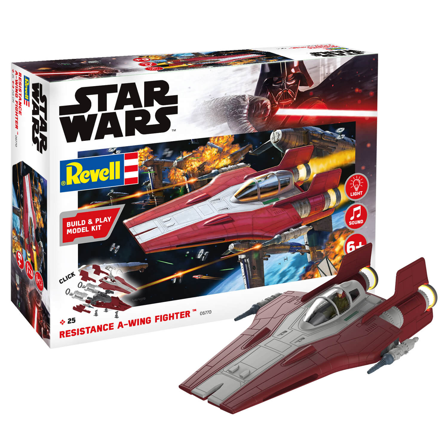Maquette Star Wars : Build & Play : Resistance A-wing Fighter, Rouge