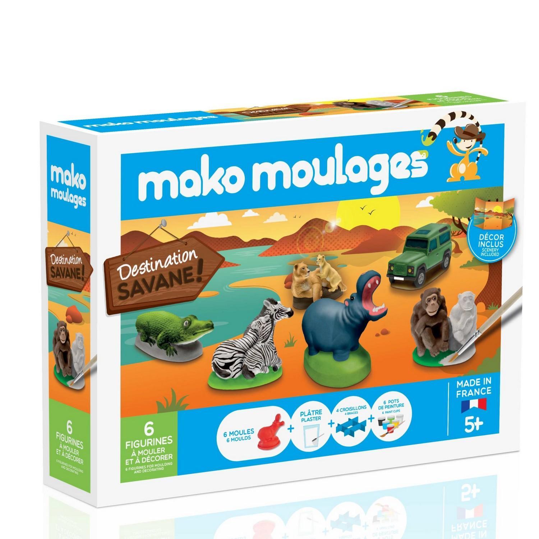 Moulage en plâtre mako créations : 6 moules destination savane