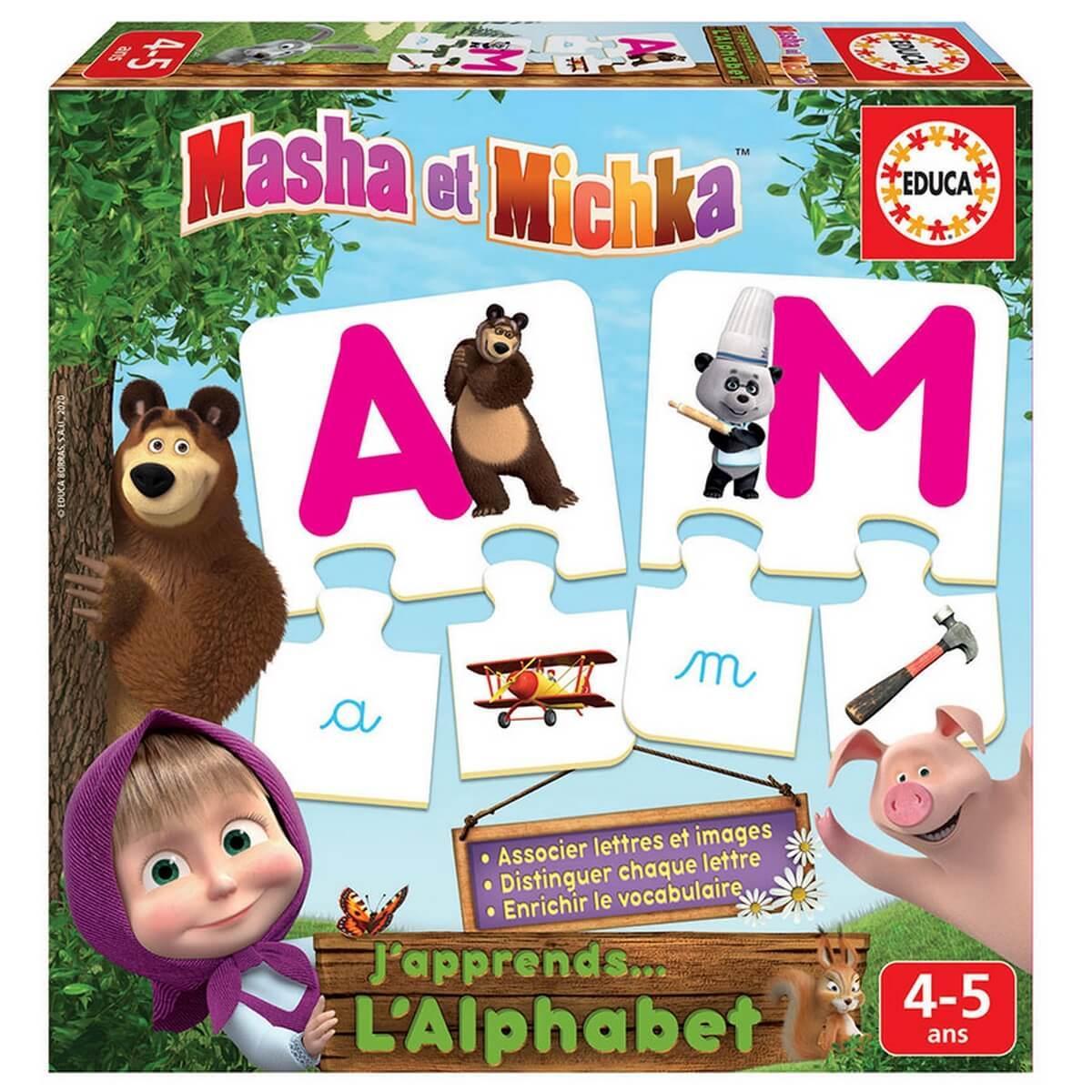 J'apprends l'alphabet : Masha et Michka