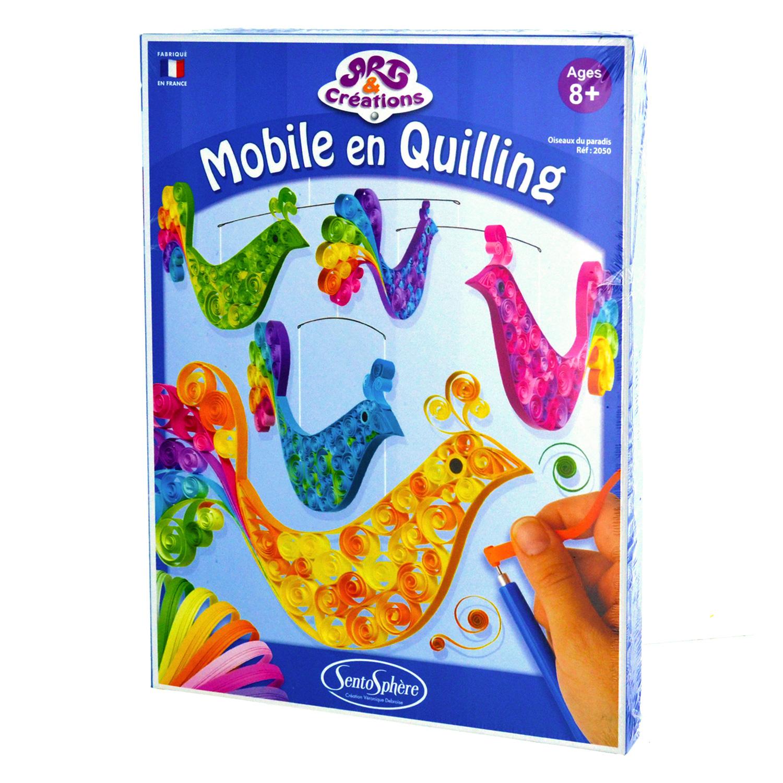 Art & Créations : Mobile en Quilling : Oiseaux