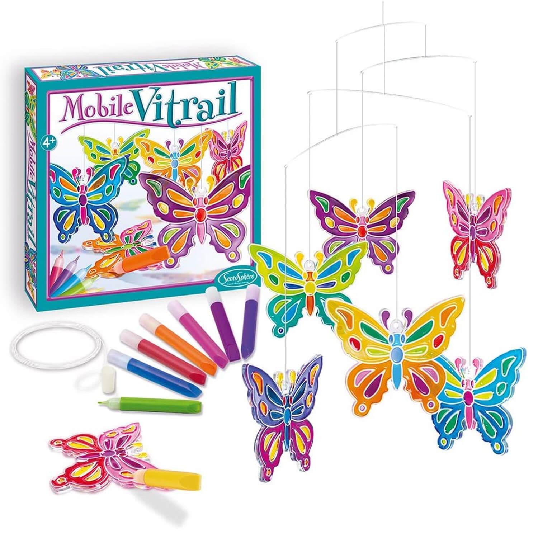 Mobile vitrail papillons Sentosphere