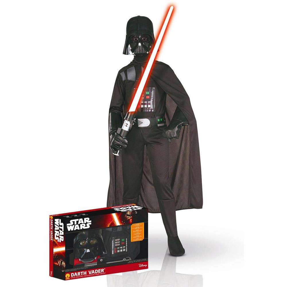 Déguisement Star Wars : Panoplie luxe Dark Vador avec sabre : 8/10 ans