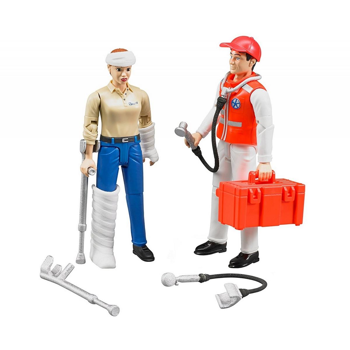Figurine : Ambulancier et patient