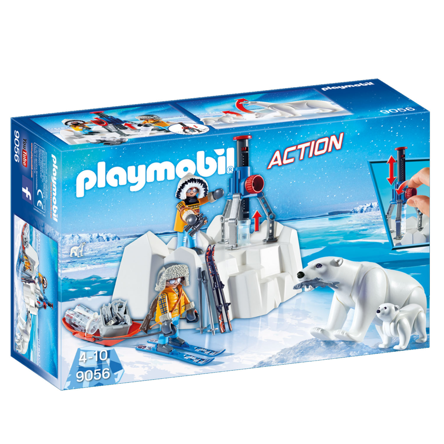 Ours Avec Polaires ActionExplorateurs Playmobil 9056 iuPZkX