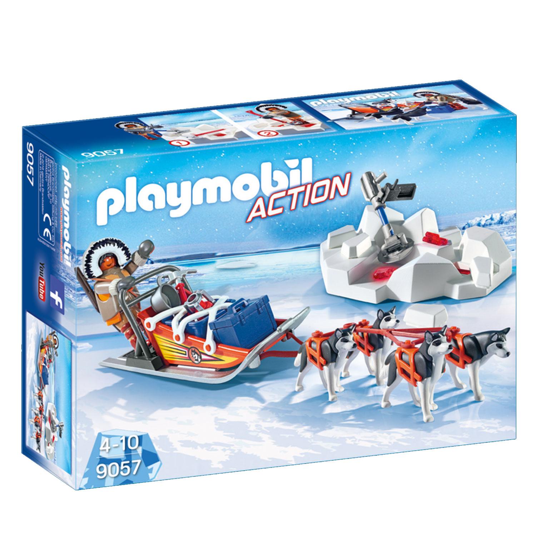 9057 ActionExplorateur Avec Playmobil De Traineau Chiens 8Own0Pk