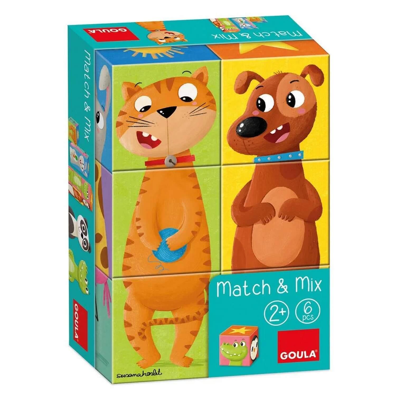 Puzzle 6 cubes : 6 Match & Mix