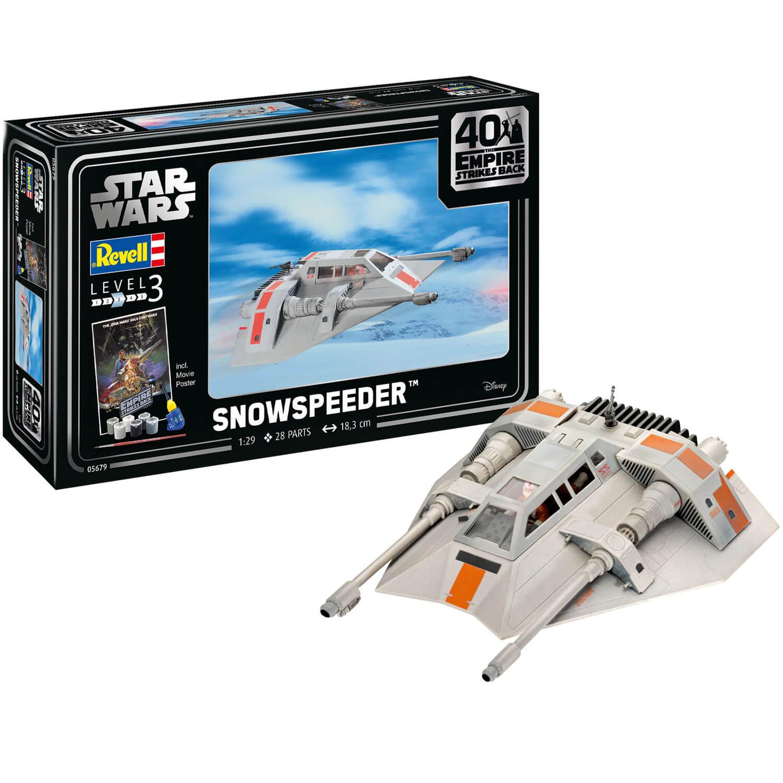 Maquette Star Wars : Coffret 40ème Anniversaire L'Empire contre-attaque : Snowspeeder