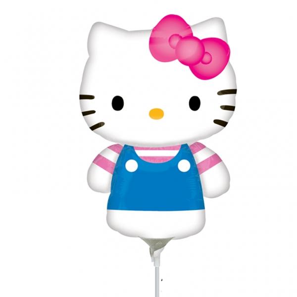 Ballon mylar gonflé Hello Kitty?