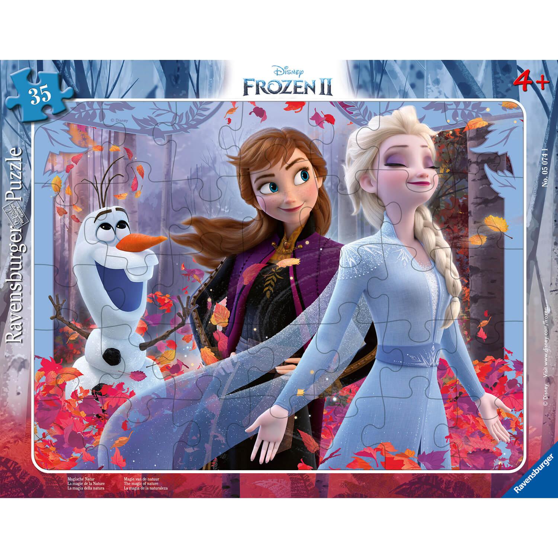 Puzzle cadre 30 pièces : La Reine des Neiges 2 (Frozen 2) Disney : La magie de la Nature