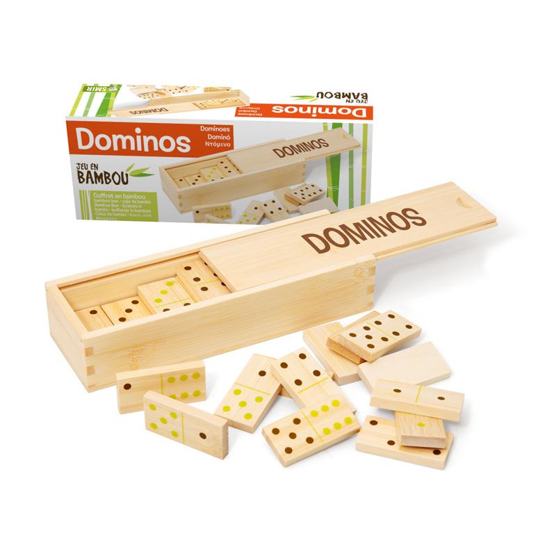 Dominos : Jeu et coffret en bambou