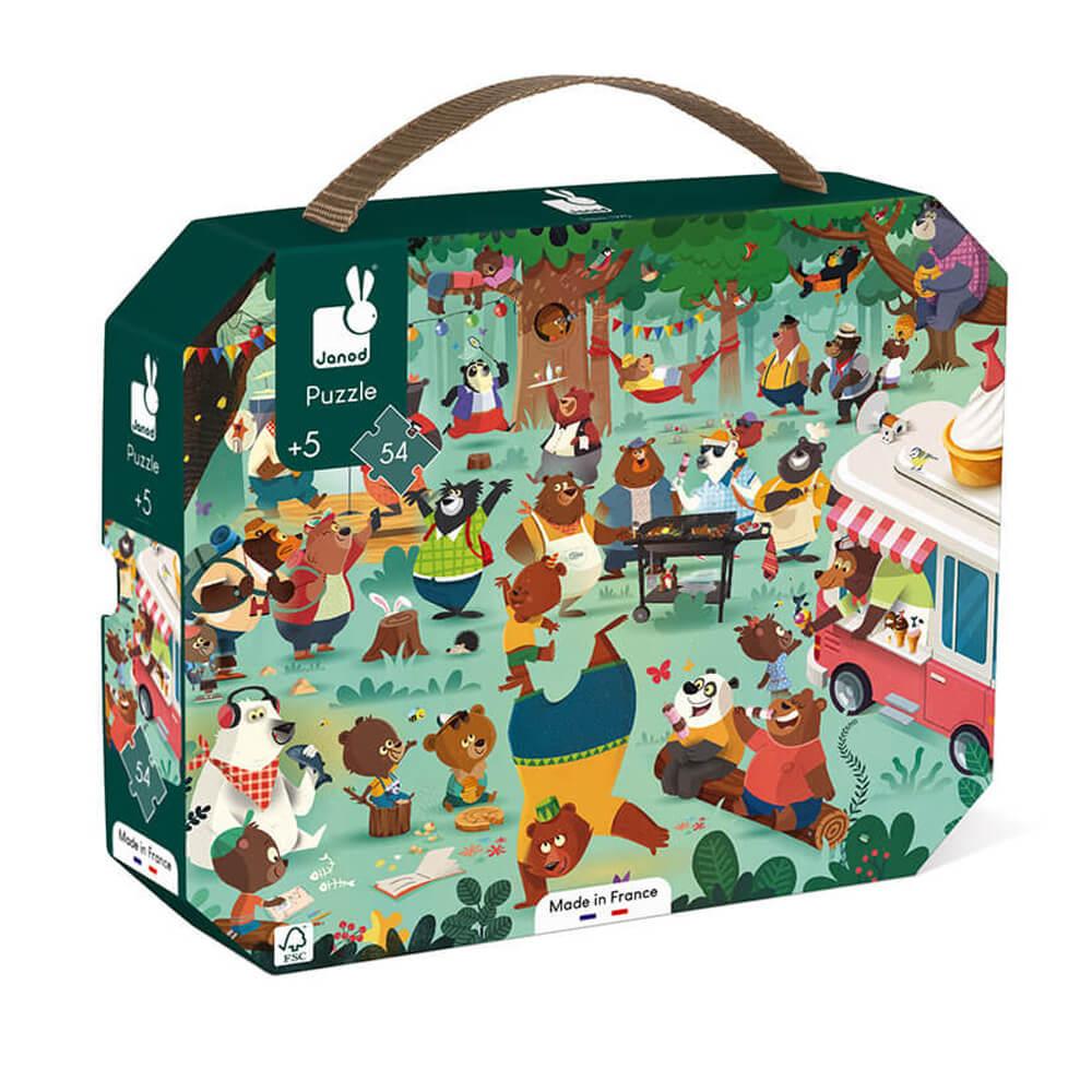 Puzzle 54 pièces : la cousinade des ours