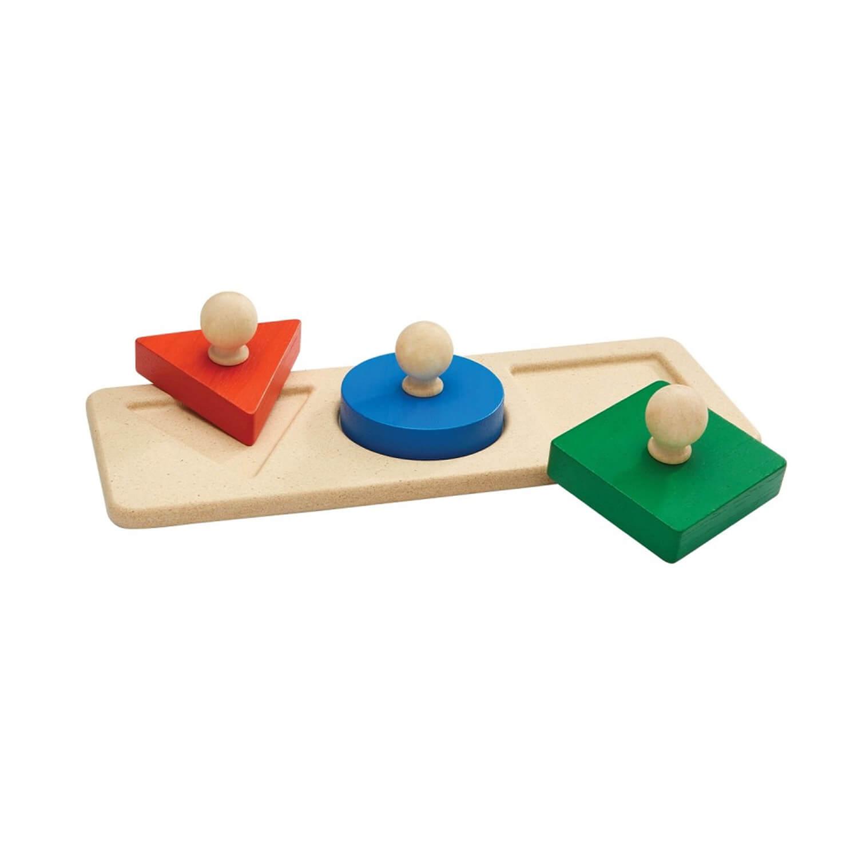 Encastrement 3 formes - Méthode Montessori