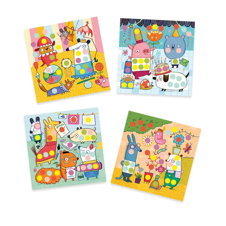 Stickers : Créer avec des gommettes rondes