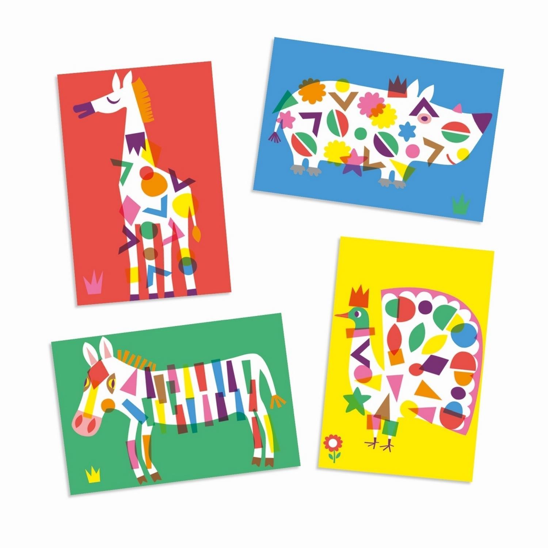 Créer avec des stickers : Les grands animaux