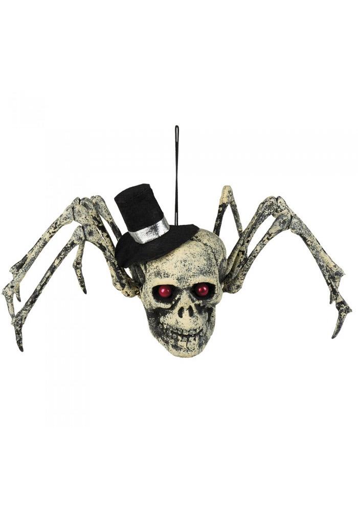 Décoration Crâne Araignée - Halloween