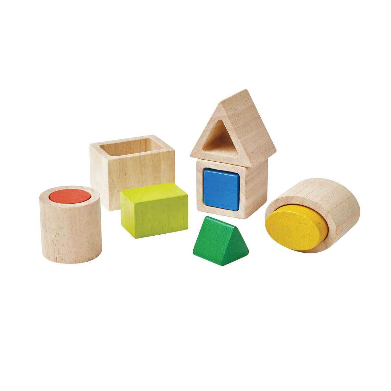 Formes géométriques à imbriquer - Méthode Montessori
