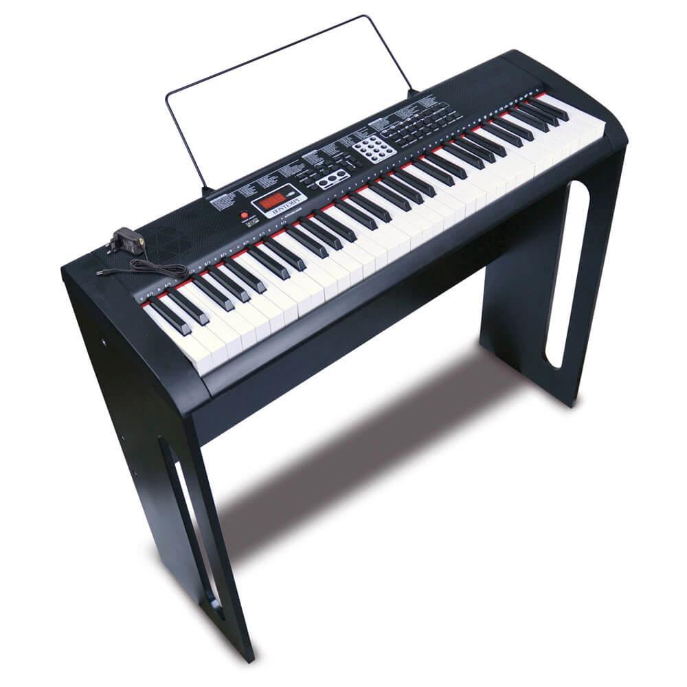 Clavier numérique 61 Touches avec pied en bois
