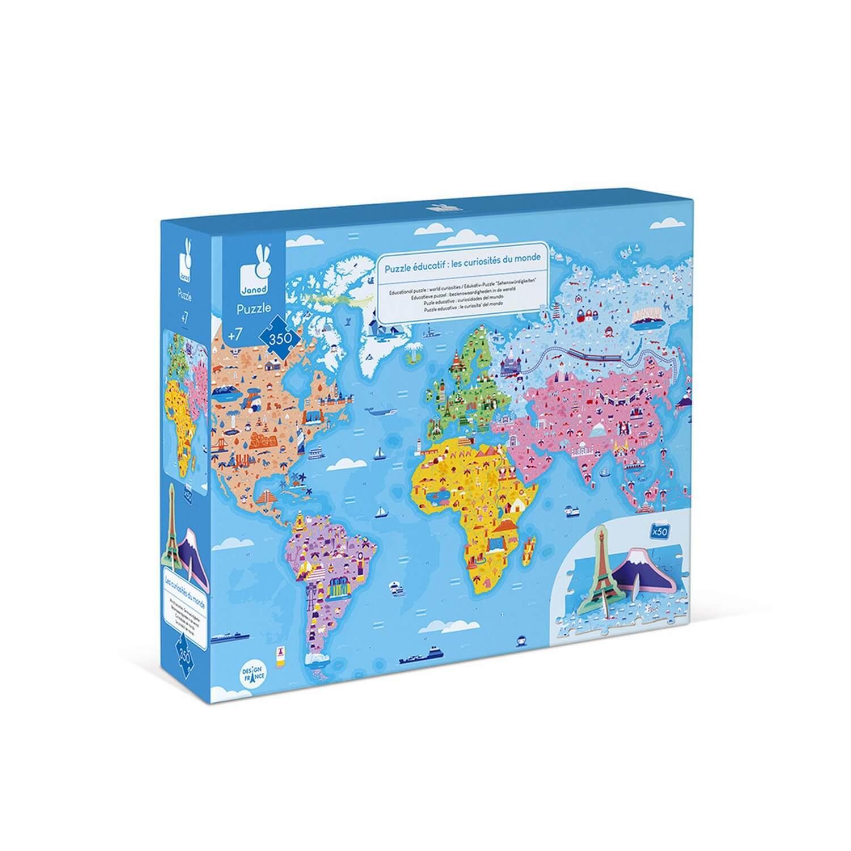 Puzzle éducatif géant 350 pièces : Les Curiosités du monde