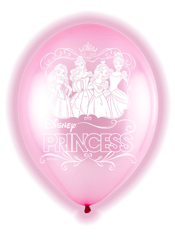 Ballons Lumineux à LED - Princesses Disney x 5