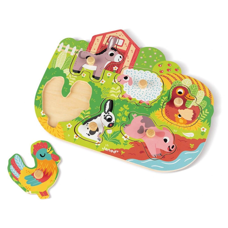 Puzzle Encastrement 6 pièces : Happy Farm