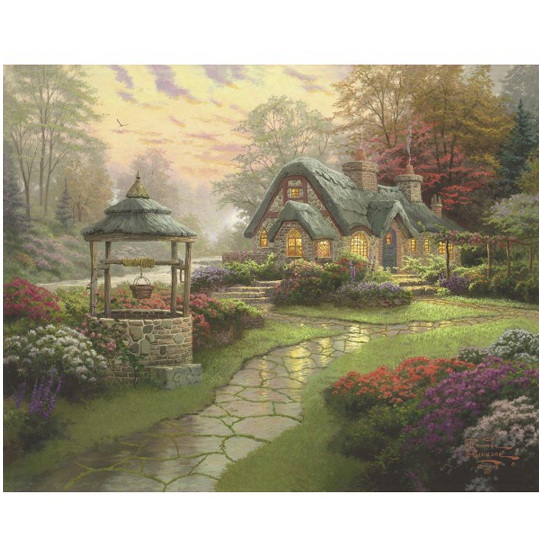 Puzzle 1000 pièces Thomas Kinkade : La maison du puits
