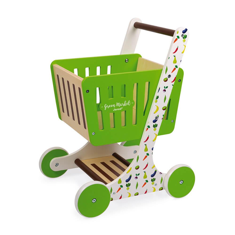 Chariot de courses en bois, Green Market