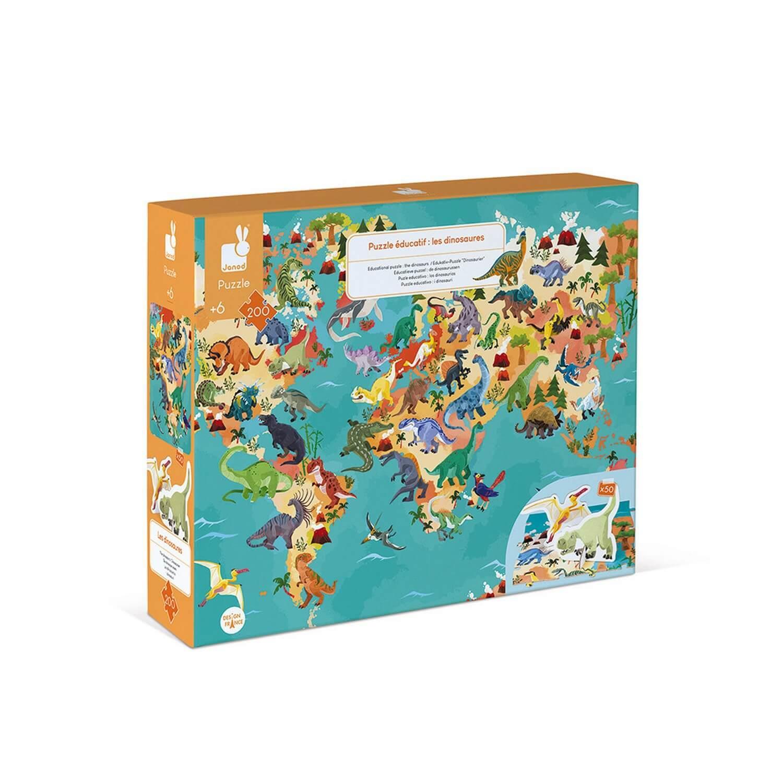 Puzzle éducatif géant 200 pièces : Les dinosaures