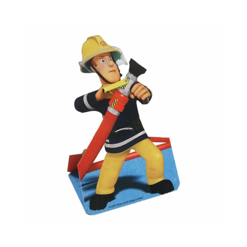 Lot de 8 cartes d'invitation : Sam le pompier