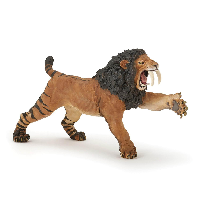 Figurine Smilodon rugissant
