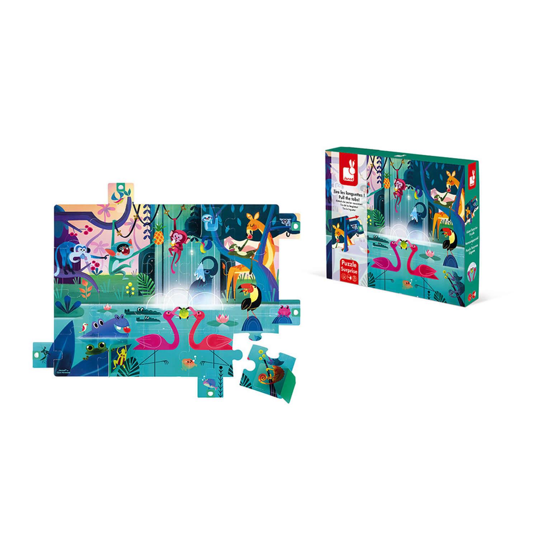 Puzzle surprise 20 pièces : Festin dans la jungle