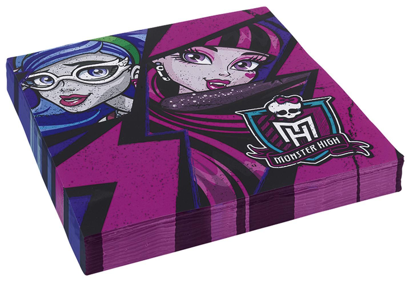 20 Serviettes en Papier Monster High?