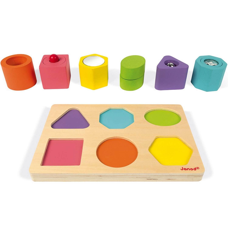 6 cubes sensoriels I wood
