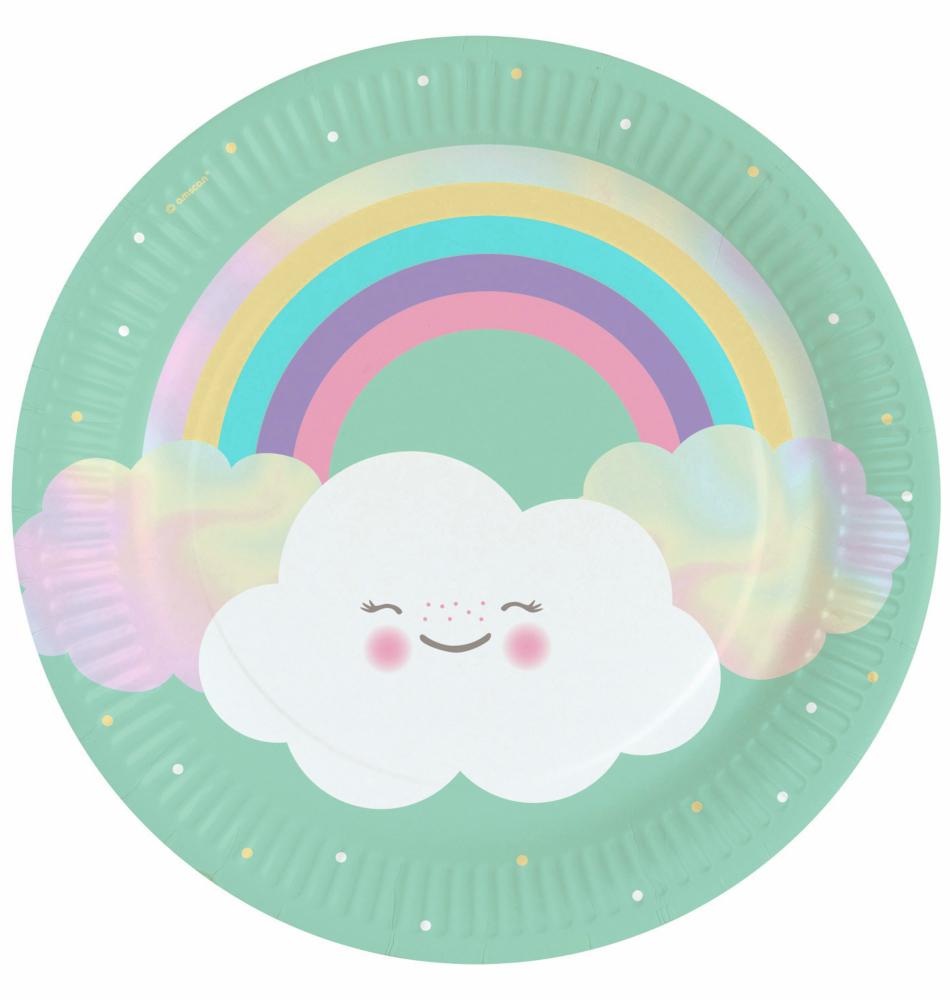 Assiettes Rainbow & Cloud x8