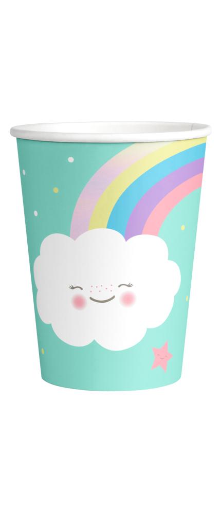 Gobelets Rainbow & Cloud x8