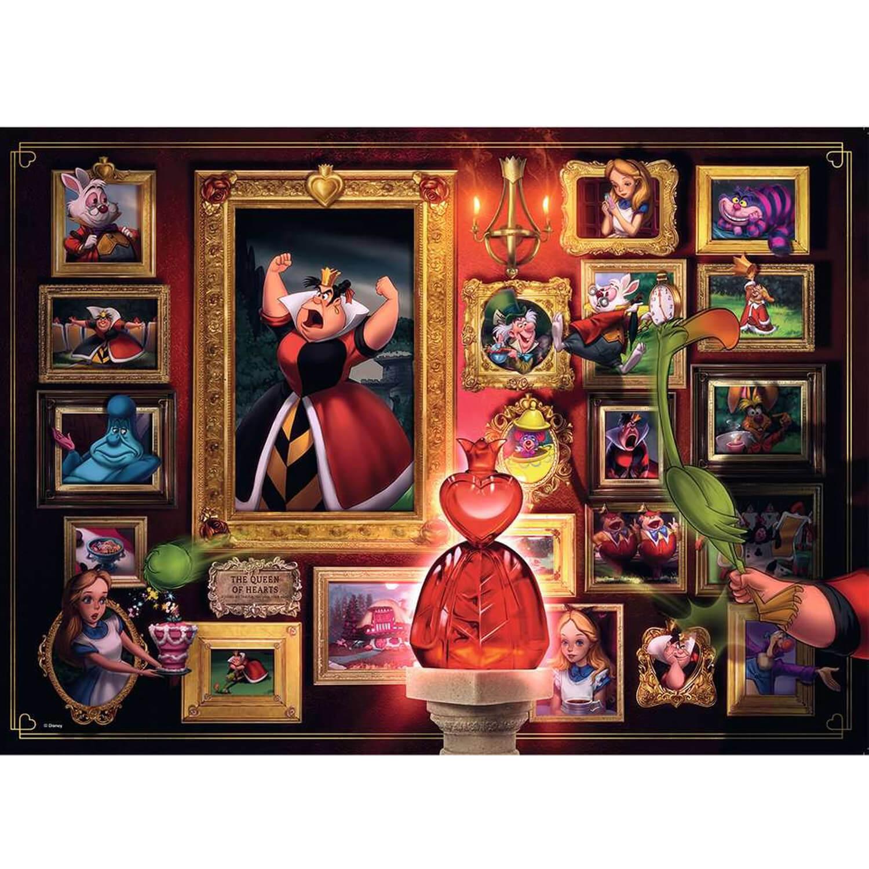 Puzzle 1000 pièces : La Reine de coeur (Collection Disney Villainous)