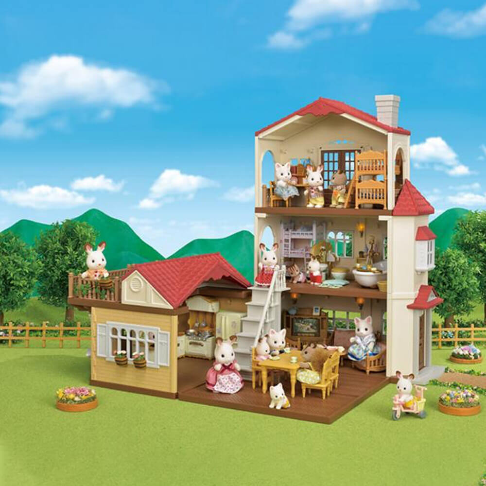 Sylvanian Family 5302 La Grande Maison Eclairee Jeux Et Jouets Sylvanian Families Avenue Des Jeux