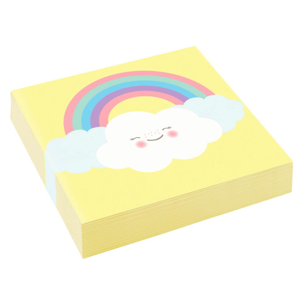 Serviettes Cocktail Rainbow & Cloud x20