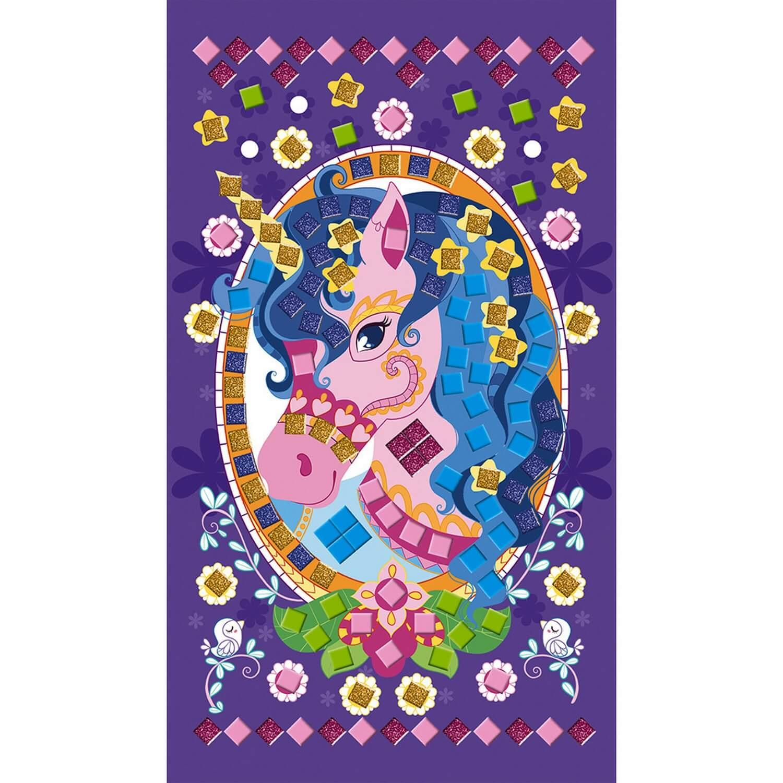 Set Créatif Mosaïques en Mousse : Poneys et Licornes