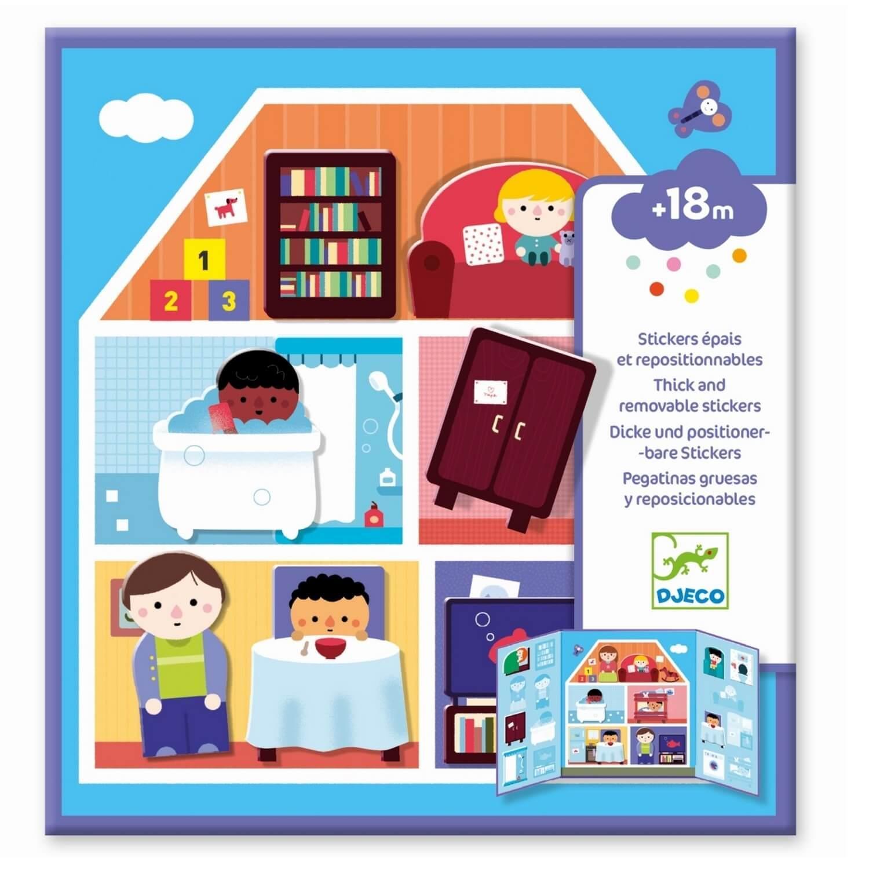 Stickers repositionnables : La maison