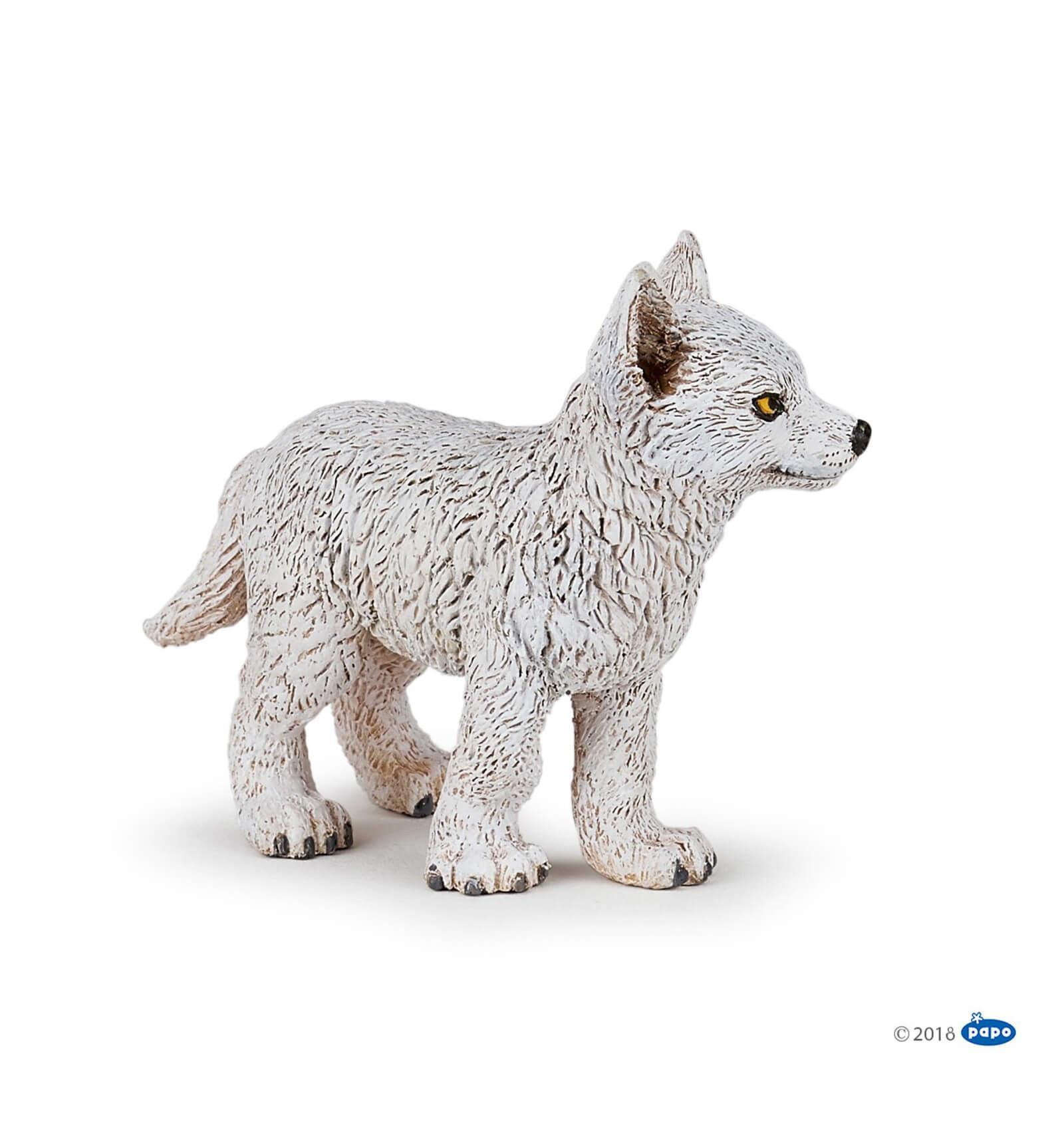 Figurine jeune loup polaire