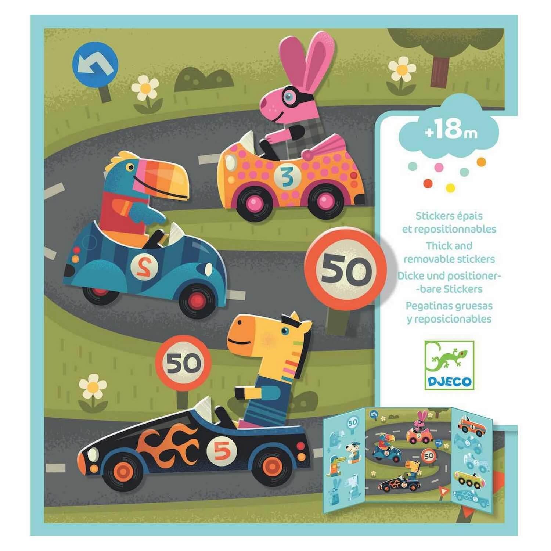 Stickers repositionnables : Les voitures